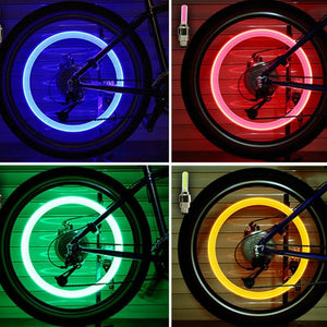 Valve Caps Wheel Spokes Led Light - 4 Pcs