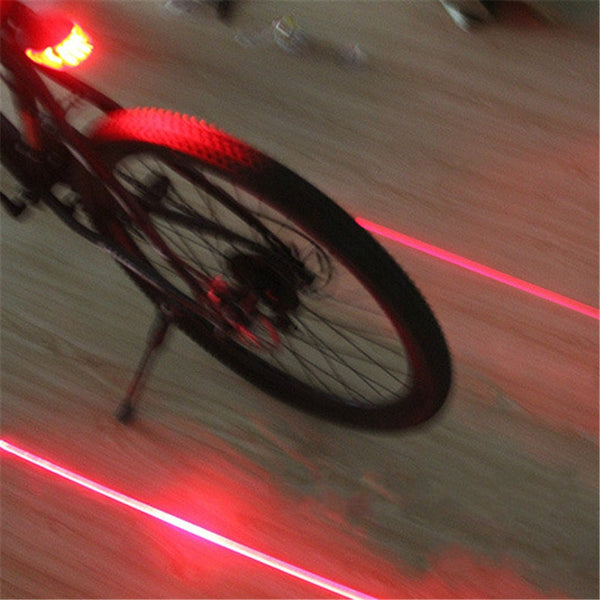 Bicycle LED Safety Tail Light - Red