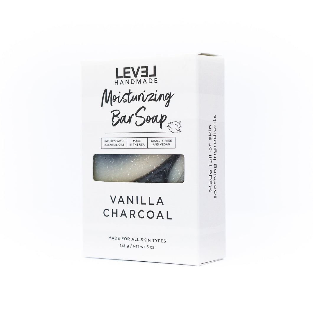 Moisturizing Bar Soap - Vanilla Charcoal