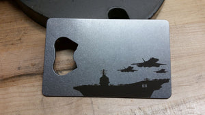 Aircraft Carrier Credit Card Bottle Opener
