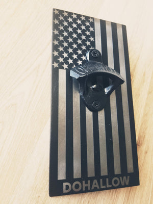 Wall Mounted Flag Customized Bottle Opener