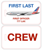 American Airlines Crew Luggage Tag