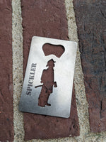Fire Fighter Credit Card Bottle Opener
