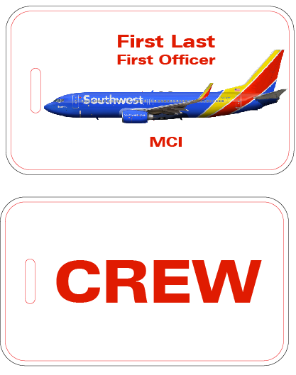 Southwest Airlines Crew Luggage Tag