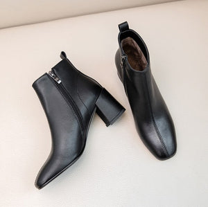 Small Size Side Zipper Short Boots BS397