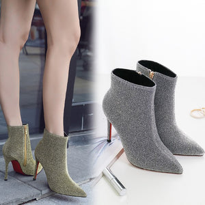 High Heel Ankle Boots For Women DS16