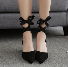 Small Size Lace Up Mid Heel Sandals SS71