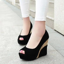 Ladies Small Feet Peep Toe Wedge Shoes SS77