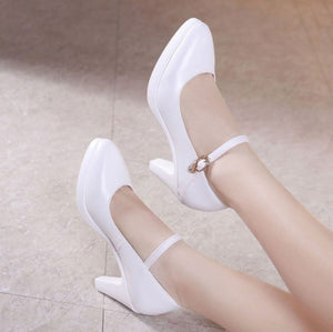 Ladies Small Size Mary Jane High Heel Pumps SS80