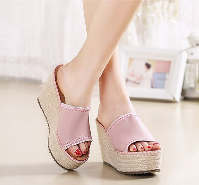 Slip On Wedge Sandals Sale US4(EU34)
