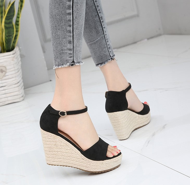 Ladies Small Size Wedge Sandals SS63