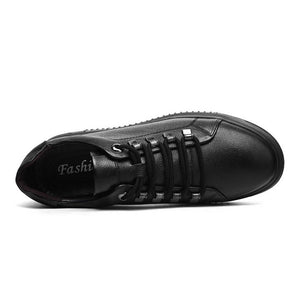 Men's Small Size Lace Up Leather Sneakers MS21