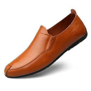 Men's Small Feet Leather Loafers MS31