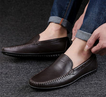 Men's Small Size Leather Loafers MS13