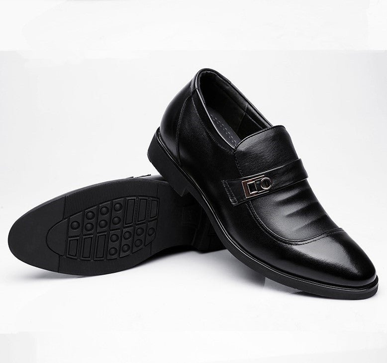 Men's Small Size Slip On Hidden Heel Dress Shoes MS56