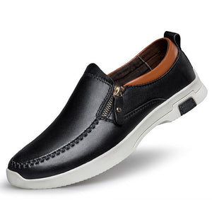 Men's Small Size Slip On Leather Loafers MS23