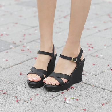 Peep Wedge Sandal For Small Feet SS390