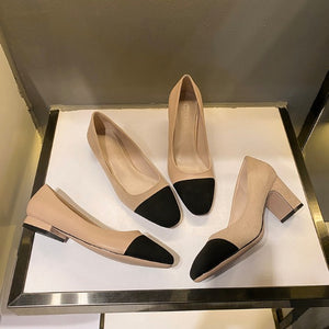 Petite Block Heel Shoes For Women BS372