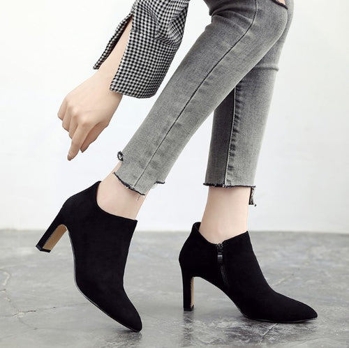 Petite Pointy Boots For Women DS30