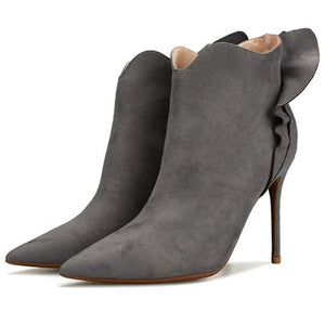 Petite Feet Pointed Toe Ankle Boots AS151