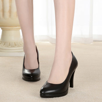 Women's Petite High Heels Platform Pumps Shoes SS90