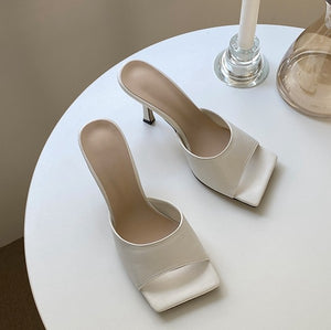 Petite Open Toe Heeled Summer Shoes DS92