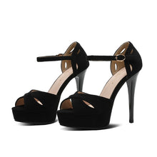 Petite Peep High Heel Shoes For Women BS378
