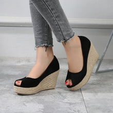 Petite Peep Thick Sole Wedge Shoes AS113