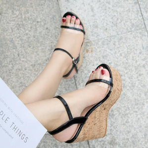 Petite Platform Wedge Heel Sandals BS118