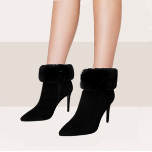 Petite Pointy High Heeled Ankle Boots DS59