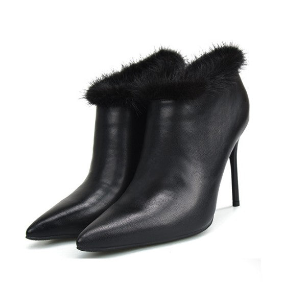 Petite Pointy High Heeled Ankle Boots DS90