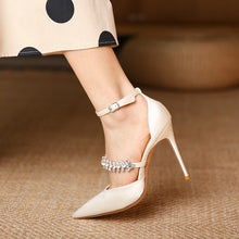 Petite Rhinestone Strap High Heel Shoes DS169