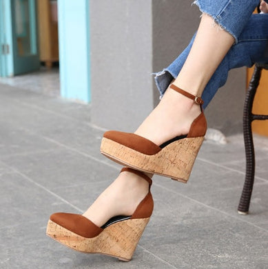 Petite Side Empty Wedge Heel Shoes DS228