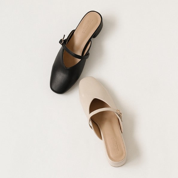 Petite Size Block Heel Loafer Shoes DS160
