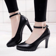 Women's Petite Size Platform Ankle Strap Pump Shoes AS279