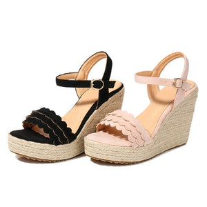 Petite Size Wedge Heel Sandals Shoes DS199