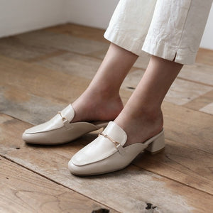 Petite Slip On Leather Loafers DS85