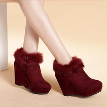 Petite Wedge Heel Ankle Boots For Women DS91