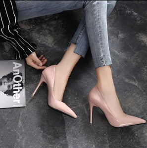 Pointed Patent Heel Pumps US3(eu33) For Sale