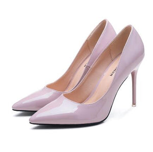 Petite Feet Women's Pointed Patent Heel Pumps AS132