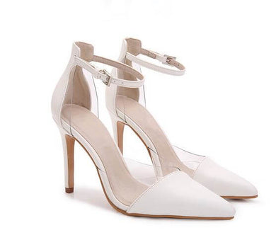Petite Feet Womens Fashion Sexy High Pointed Toe Heel Sandals White