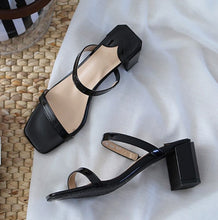 Petite Feet Womens Slip On Block Heel Sandals SS249