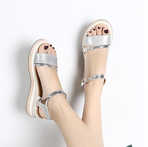 Petite Low Wedge Sandals For Small Feet Girls SS375