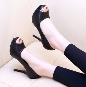 Peep High Heel Pumps For Small Feet AP99