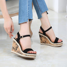 Petite Platform Wedge High Heel Ankle Strap Sandals Size 4