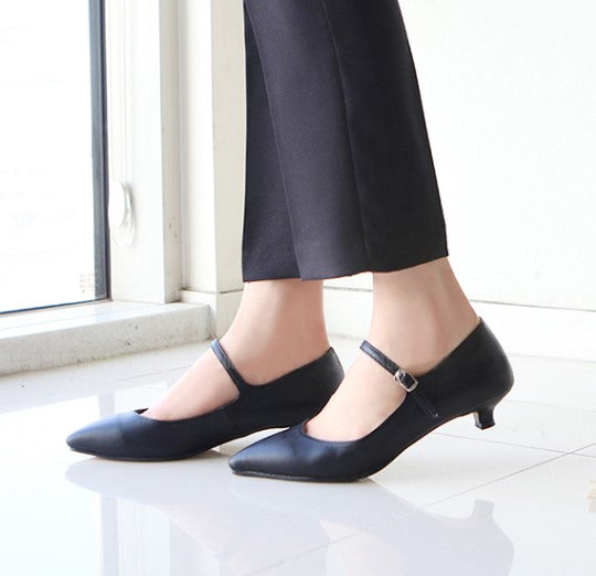 Petite Low Heel Mary Jane Pump Shoes SS162