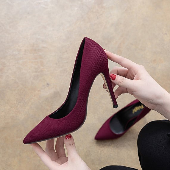 Petite Silk Satin Dress High Heels AP152