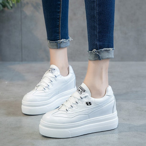 Petite Size 31 Thick Sole Lace Up Sneakers For Small Feet Women