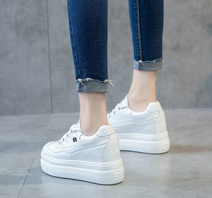 Petite Size 32 Thick Sole Lace Up Sneakers For Small Feet Women