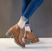 Petite Size Leather Ankle Boots For Small Feet AP143